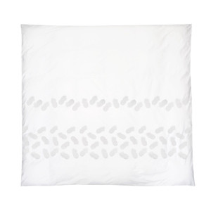 Ananas Cotton Duvet Cover - Kingsize White