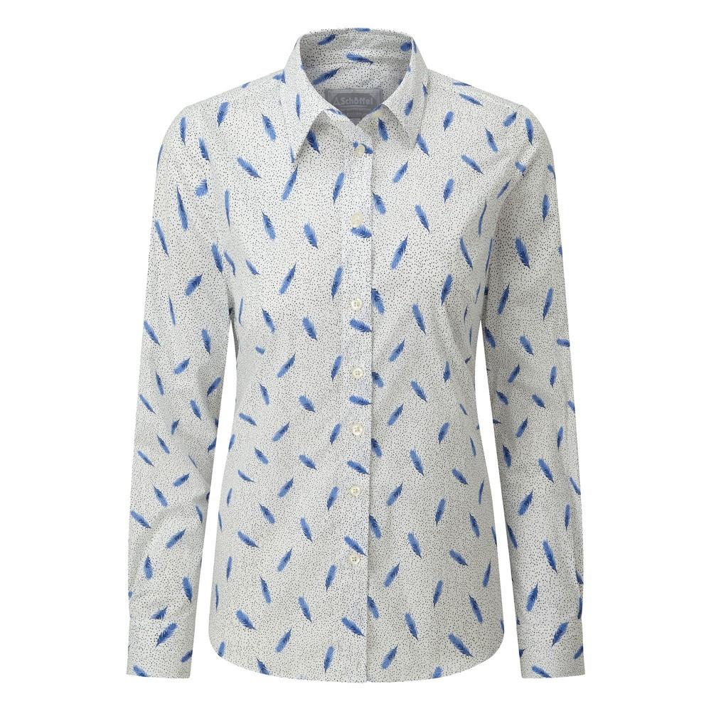Schoffel Country Norfolk Shirt Sprig Cobalt