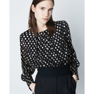 Manila Gold Dot Blouse Black/Gold