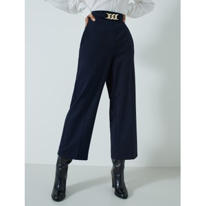 Theodor Wide Leg Trs Navy/Gold