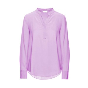 Galles Button V Neck Tunic Lavender