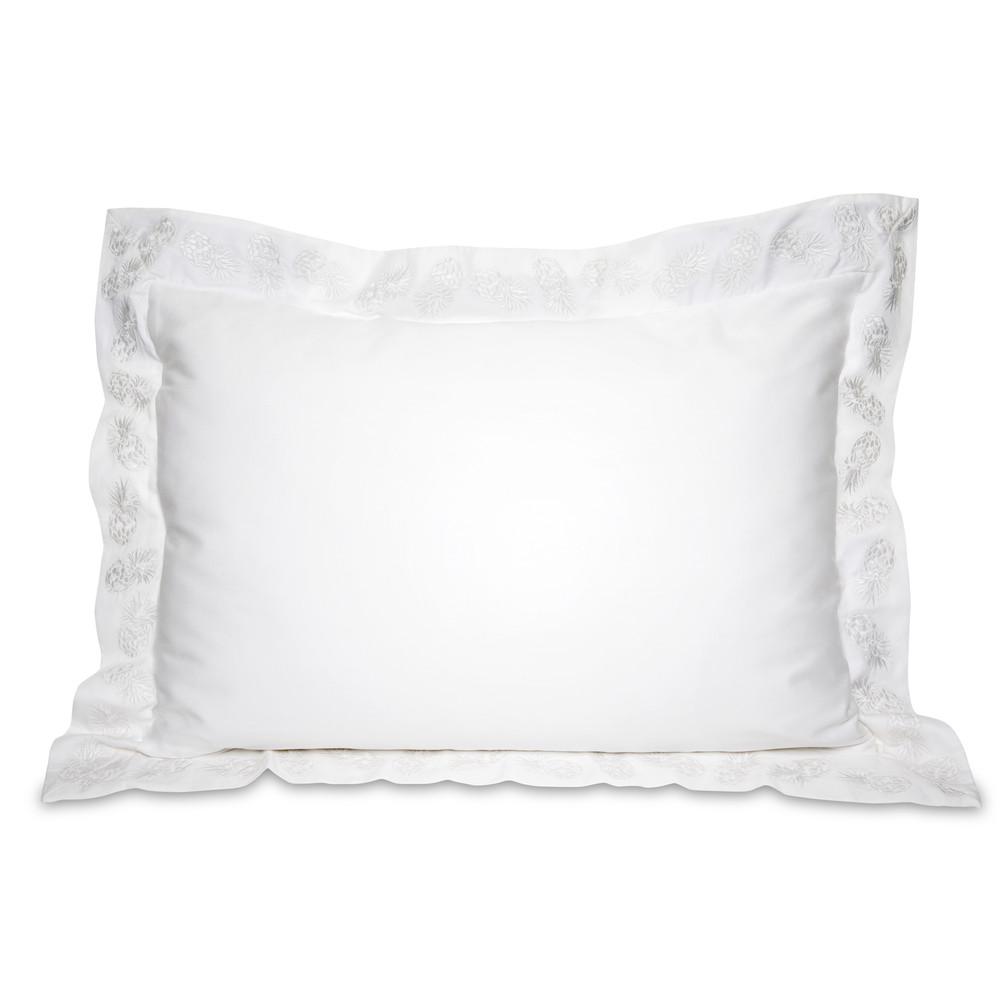Elizabeth Scarlett Ananas Cotton Pillow Cases - 2 Pack White