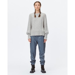 Munthe Left Bln Slv Cable Sweater Grey