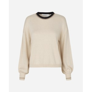 Munthe Many Contrast Collar/Cuff Knit Ivory/Black