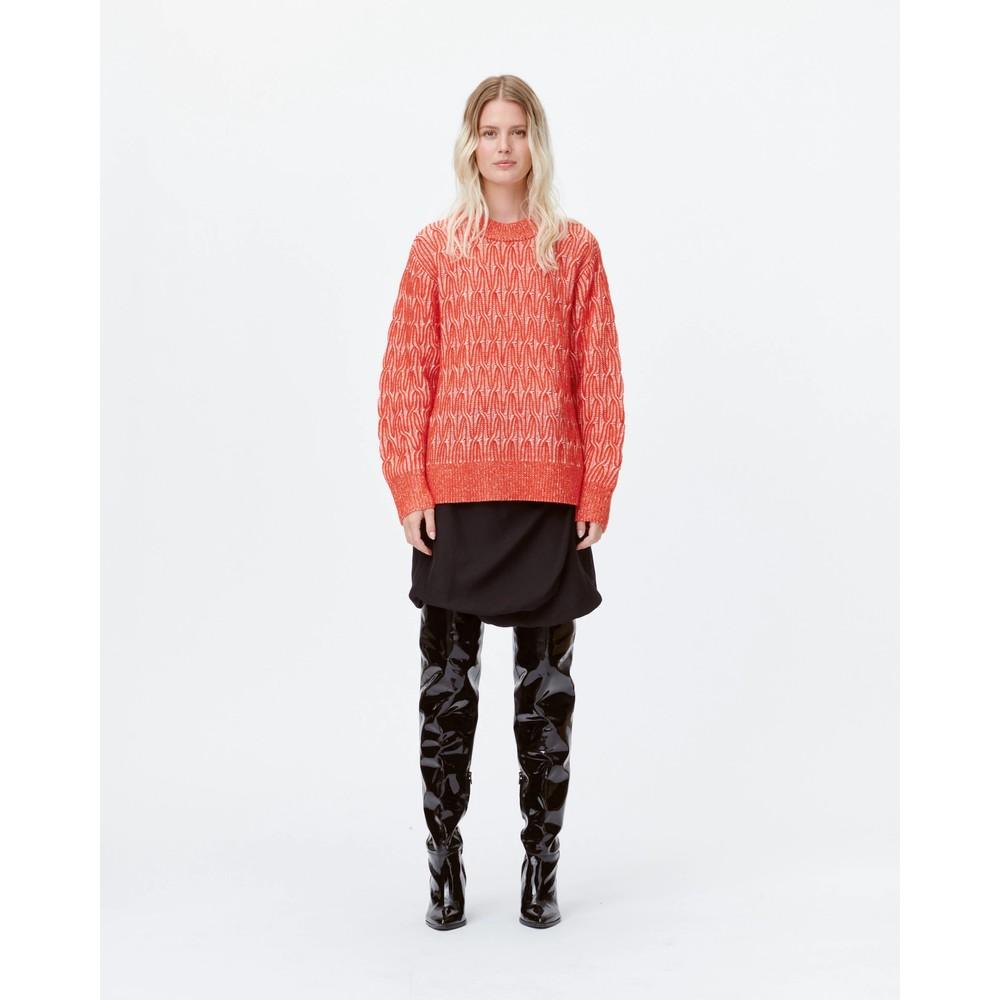 Munthe Link R/Nk Alpaca/Wool Knit Red