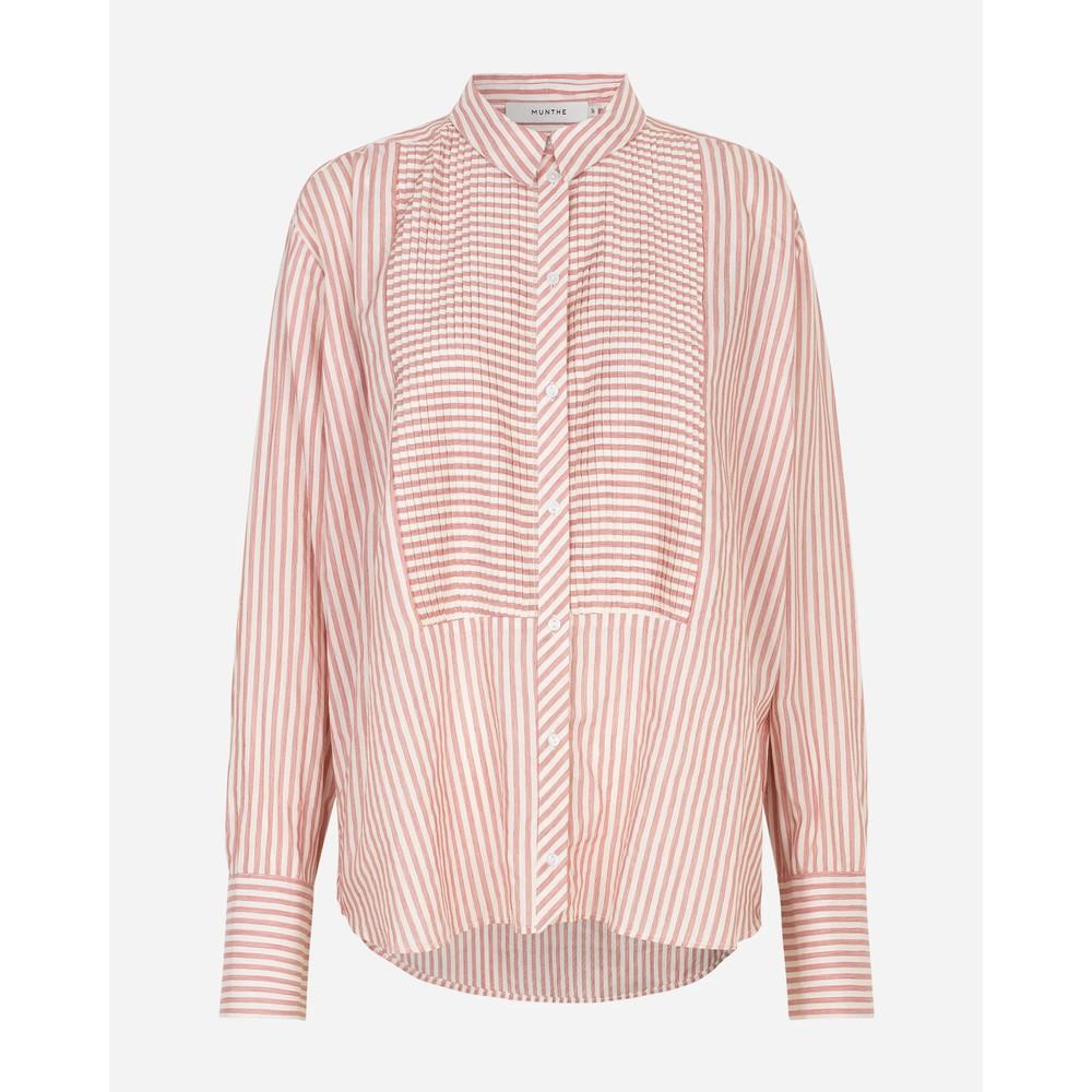 Munthe Everett Pintuck Stripe Shirt Skin