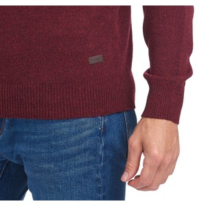 Barbour Patch Crew Jumper Merlot Marl