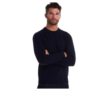 Barbour Patch Crew Jumper in Navy