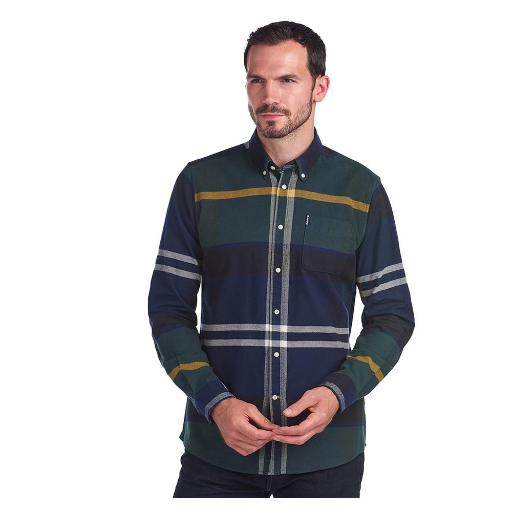 Barbour Tartan 7 Tailored Shirt Seaweed