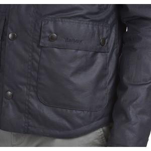 Barbour Reelin Waxed Cotton Jacket Navy