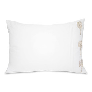 Palmier Cotton Pillow Cases - 2 Pack White