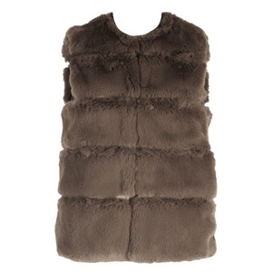 Janay Faux Fur Gillet Deep Grey