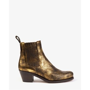 Penelope Chilvers Salva Metallic Boot in Antique Gold