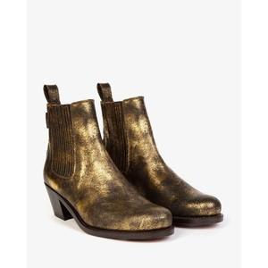 Penelope Chilvers Salva Metallic Boot Antique Gold