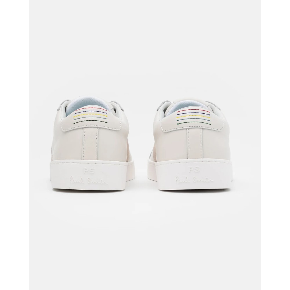 Paul Smith Shoes Lowe Suede Stripe Trainer Off White