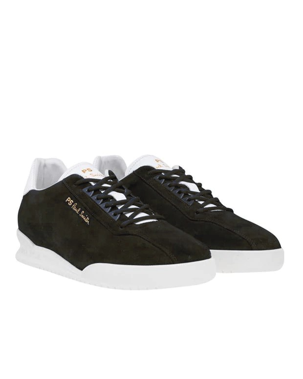Paul Smith Shoes Achirus Suede Trainer Olive Green