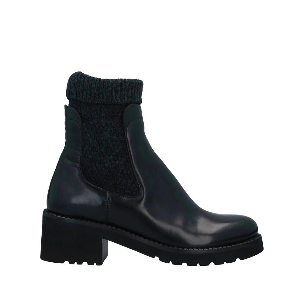 Calpierre Lurex Knit Ankle Boot Navy