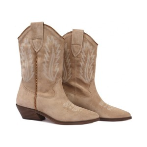 Alpe Stitch Detail Cowboy Boot Taupe