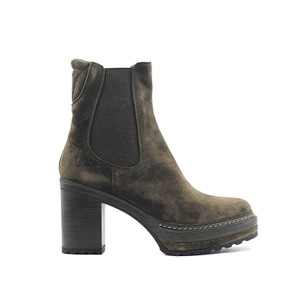Pons Quintana Oliv-B Chunky Suede Ankle Boot Brown