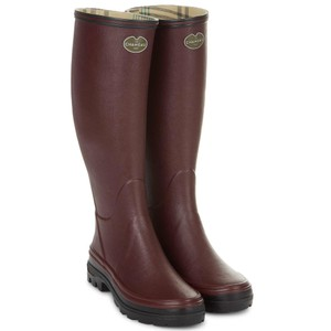Giverny Jersey Lined Boot Cherry