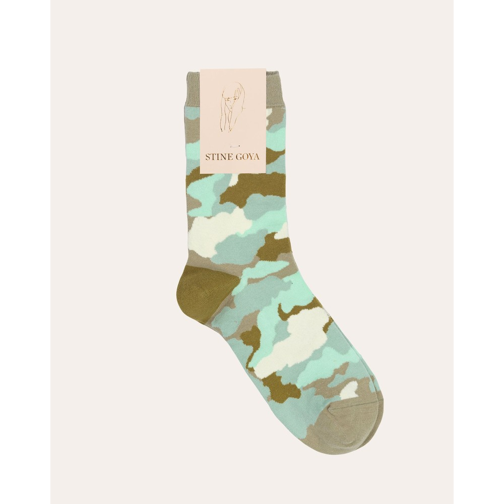 Stine Goya Iggy Socks Camouflage Green