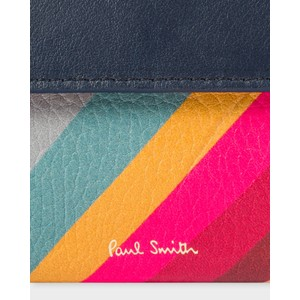 Paul Smith Accessories Swirl Med Tri Fold Purse Navy/Multi