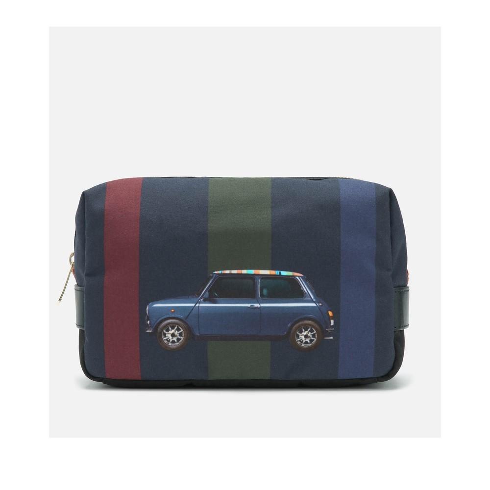 Paul Smith Accessories Mini Stripe Canvas Washbag Multi