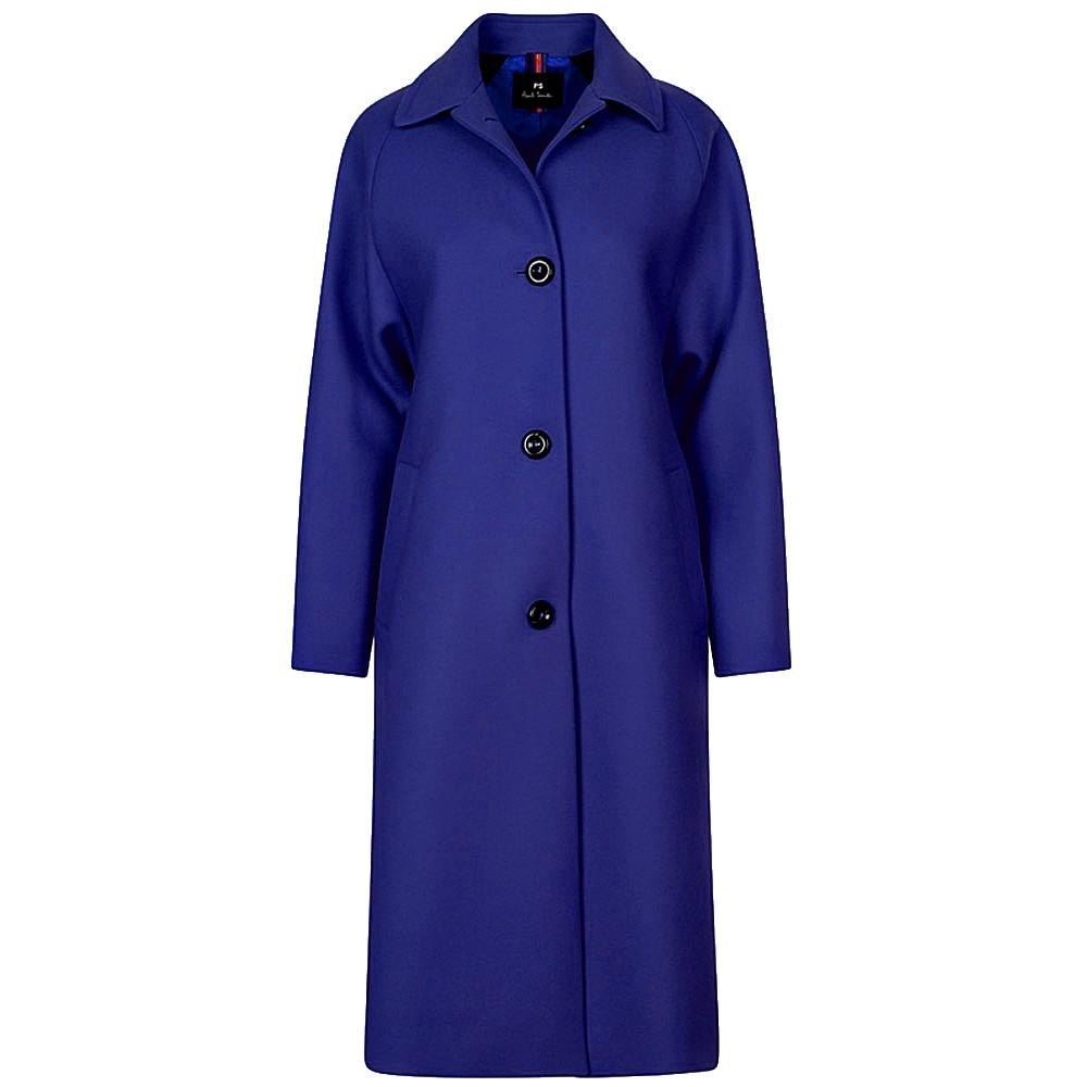 Paul Smith Womens 3 Button Coat Cobalt Blue