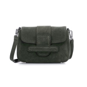 Camilla Suede Cross Body Bag Military