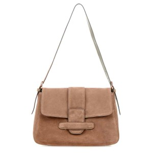 Camilla Suede Shoulder Bag Natural