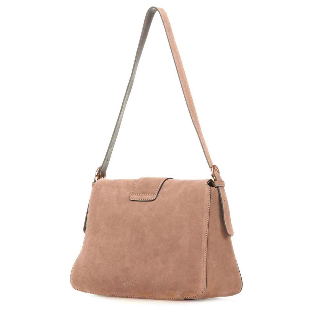 abro Camilla Suede Shoulder Bag Natural