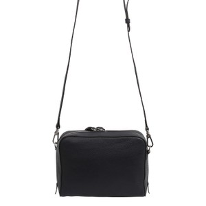 abro Boxy Leather Cross Body Bag Navy
