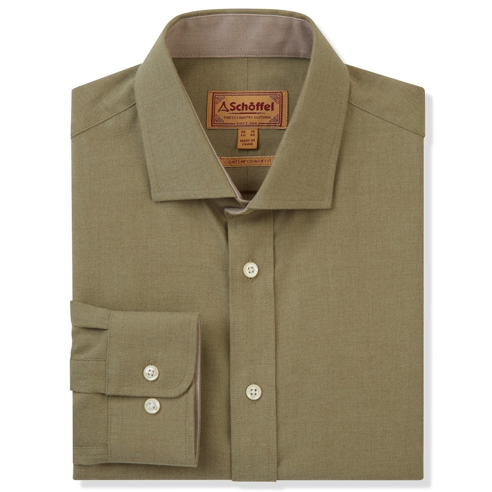 Schoffel Country Newton Tailored Sports Shirt Olive