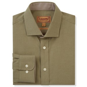 Schoffel Country Newton Tailored Sports Shirt in Olive