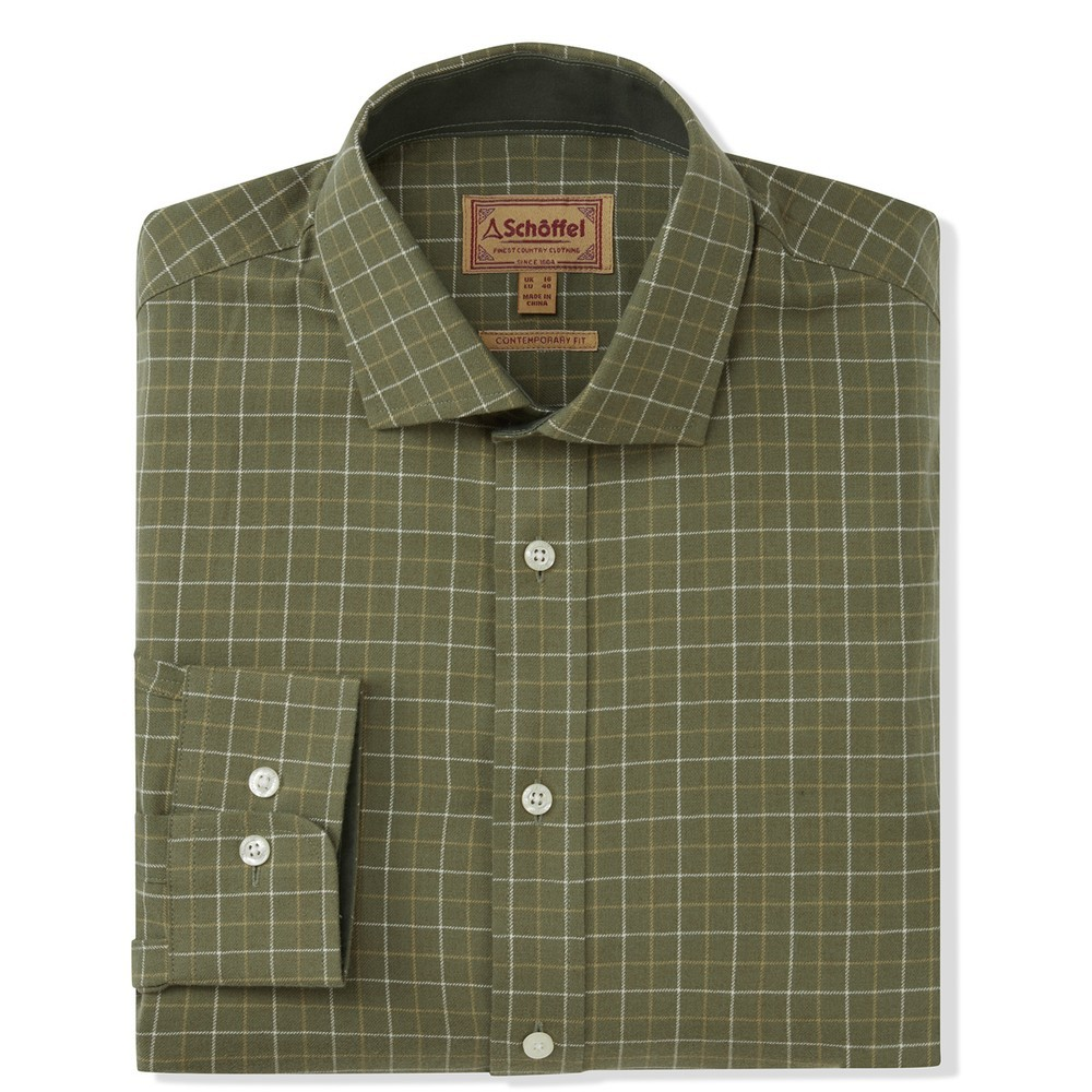 Schoffel Country Newton Tailored Sports Shirt Lovat Check