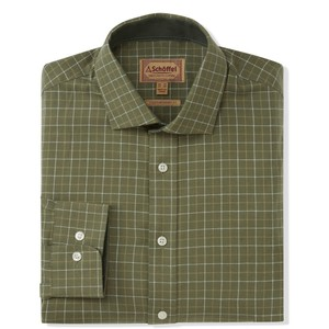 Schoffel Country Newton Tailored Sports Shirt in Lovat Check