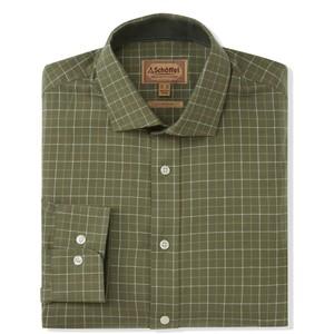 Newton Tailored Sports Shirt Lovat Check