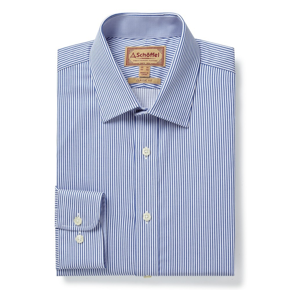 Schoffel Country Greenwich Tailor Shirt-Dbl Cf Navy/Stripe
