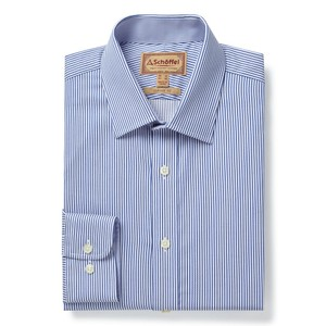 Greenwich Tailor Shirt-Dbl Cf Navy/Stripe