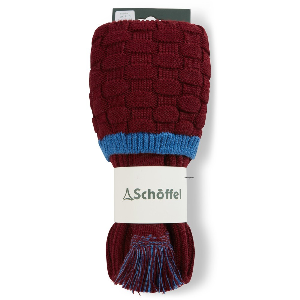 Schoffel Country Teigh Sock Claret/Sea Blue