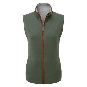 Reverse Merino/Cashmere Gilet Cedar Green/Silver Grey