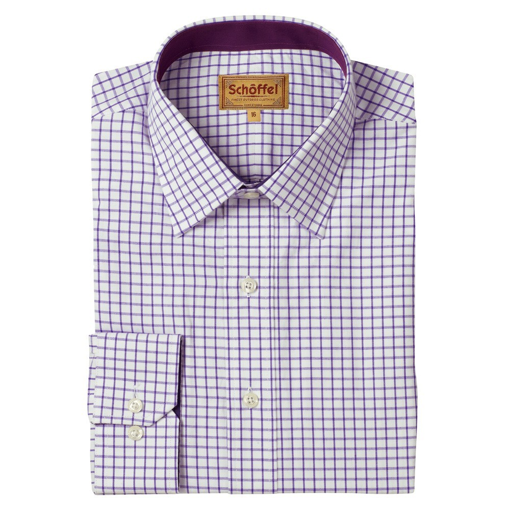Schoffel Country Cambridge Check Shirt Purple