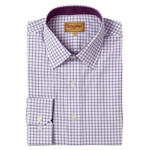 Schoffel Country Cambridge Check Shirt in Purple