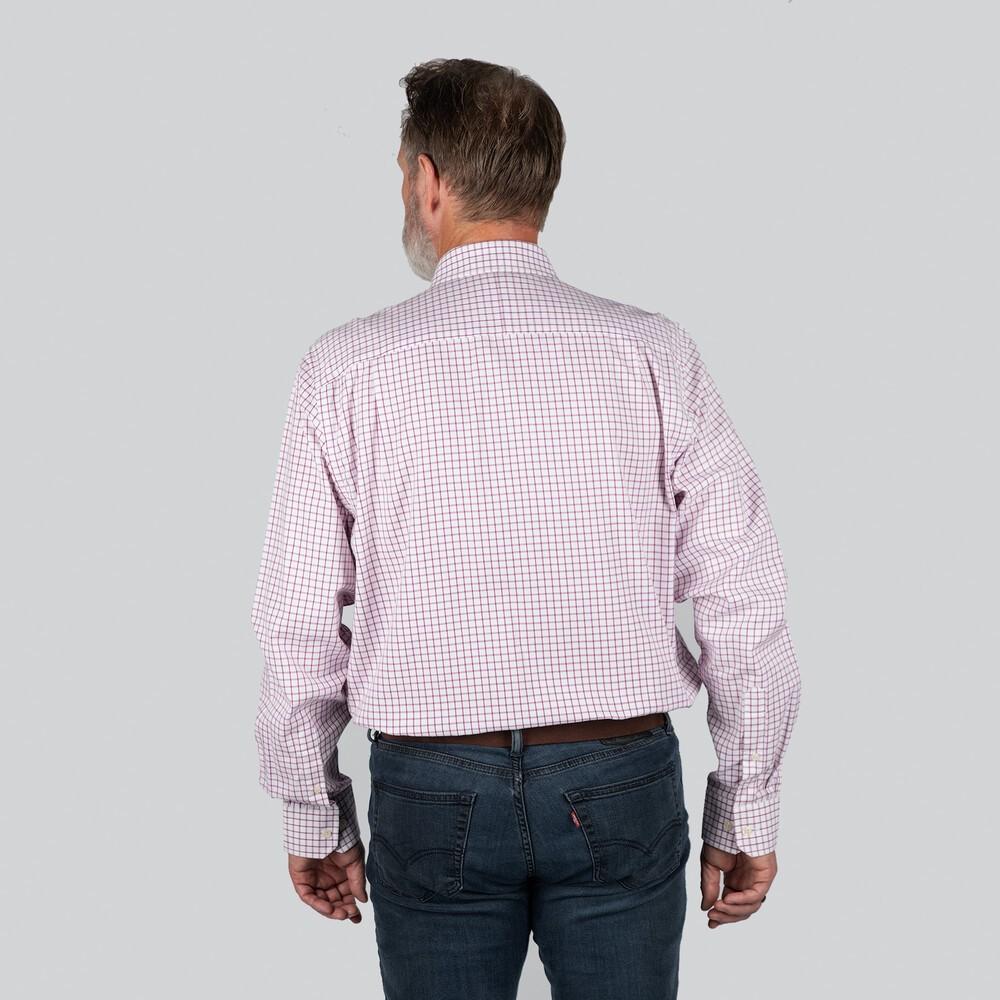 Schoffel Country Cambridge Check Shirt Raspberry