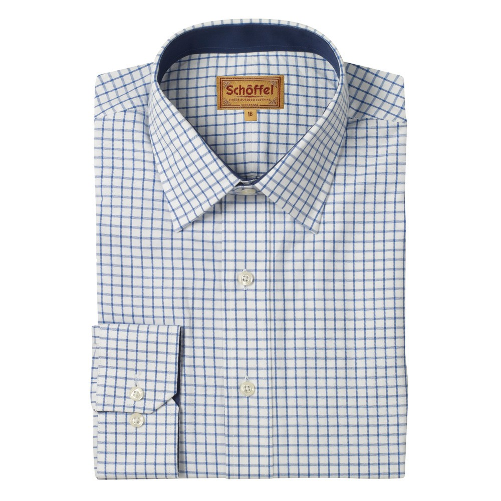 Schoffel Country Cambridge Check Shirt Navy