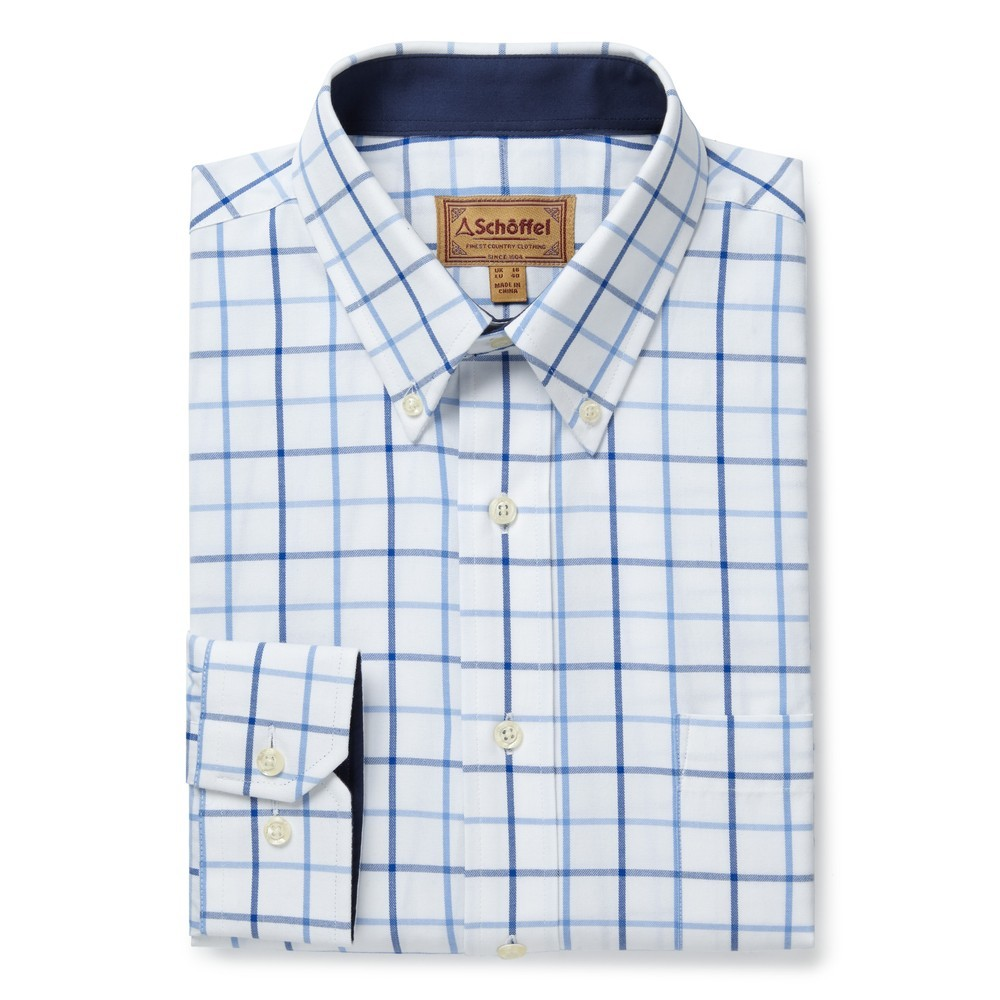 Schoffel Country Brancaster Shirt Blue Check
