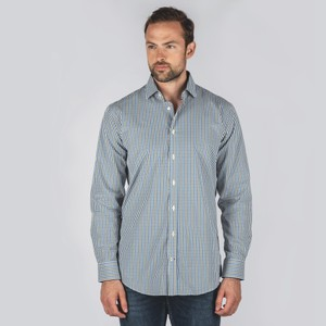 Hebden Tailored Shirt Sea Blue/Olive