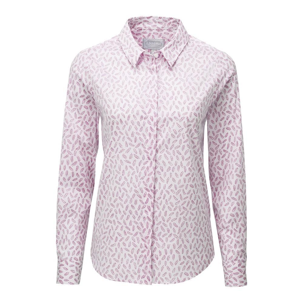 Schoffel Country Sunningdale Shirt Barley Raspberry