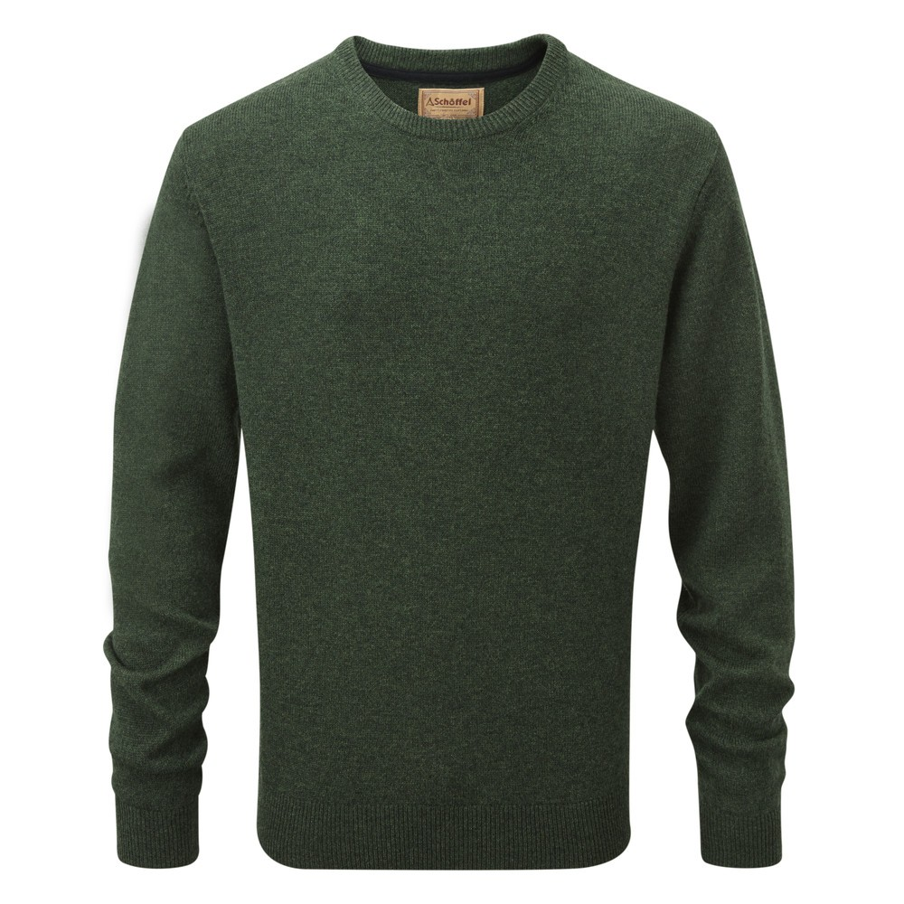 Schoffel Country Lambswool Crew Neck Jumper Forest
