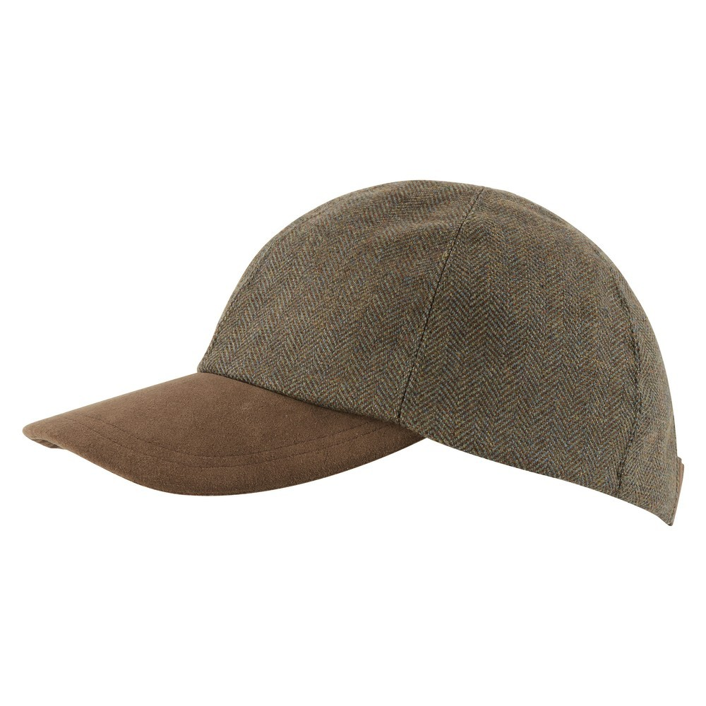 Schoffel Country Barnsdale Cap Loden Green H/Bone Tweed